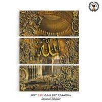Artred Gallery İslami Serisi Üç Parça 70X95 Tablo