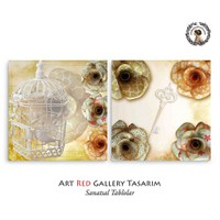 Artred Gallery Kafes Ve Anahtar İki Parça83X55 Tablo