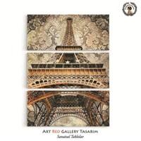 Artred Gallery Paris Üç Parça 95X70 Tablo