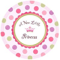 Parti Paketi Minik Prenses Açık Büfe Tabağı 8'Li