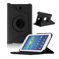 "Case 4U Samsung Galaxy Tab3 T210 7"" 360° Dönebilen Siyah Standlı Tablet Kılıfı"