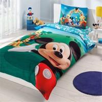 Taç Disney Mickey Mouse Club Tek Kişilik Ranforce Nevresim Takımı
