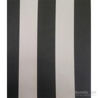 Bien 7950 Kalın Çizgili Siyah Beyaz Duvar Kağıdı