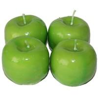 Pandoli 4 Adet Yeşil Elma Figürlü Mum