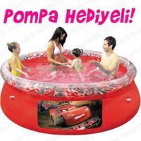 Bestway 91026 198X51cm Cars Desenli Şişme Havuz