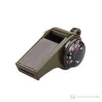 Evolite Düdük Pusula Termometre 3in1 Haki