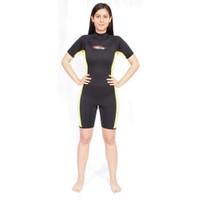 Free-Sub Shorty Kadın Dalış Elbisesi 3Mm Sarı Siyah Beden:S