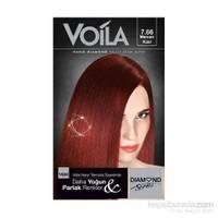 Voila Nano Diamond Krem Saç Boyası Mercan Kızıl 7,66