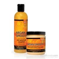Organics Mat Ve Cansız Saçlar İçin Arganlı Tuzsuz Şampuan Ve Maske