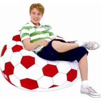 Delta Kırmızı & Beyaz Futbol Topu Desenli Taraftar Koltuğu