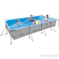 Jilong Hazır Havuz Prefabrik Dikdörtgen Çelik 394X207x80