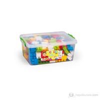 Dolu Sandıkta Büyük Renkli Bloklar 130 Parça