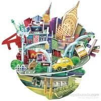 Cubic Fun 3D 55 Parça Puzzle Cityscape - New York