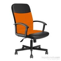 Max Office Easy File Kumaş Yönetici Koltuğu Turuncu