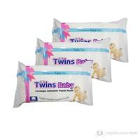 Twins Baby Yenidoğan Islatılabilir %100 Pamuk Mendil / 3 lü