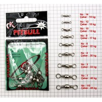 Pitbull Barrel Swivel - Nikel 10 Adet - No;1