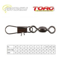 Protackle Toro Crane Snap Swivel Kilitli Fırdöndü Black Nikel No:2
