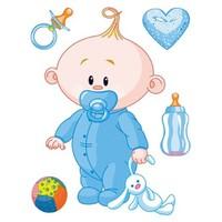 Artikel Fosforlu Duvar Sticker Baby Boy FS-147
