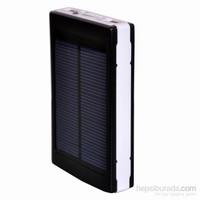 Apprise 8000 mAh Led Işıklı Solar Taşınabilir Powerbank Şarj Aleti Siyah