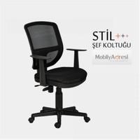 Mobilyadresi Stil Ofis Koltuğu, Şef Koltuğu, Fileli Koltuk