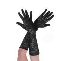 Pandoli Orta Boy Dantelli Eldiven Siyah Renk