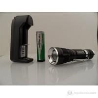 B&T- B10 Mini 5W Led Cree Q5 600Lümens Zoomlu Şarjlı Fener 80167