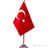 Masa Bayrağı Tekli Direkli Türk Bayrağı