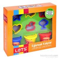 Lets L-8245 Eğlencelı Kalıplar 210 Gr 3 Renk Oyun Hamuru + 6 Adet Kalıp