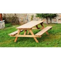 Alaçam 8 Kişilik Piknik Masası Kahverengi