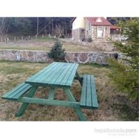 Alaçam 8 Kişilik Piknik Masası Yeşil