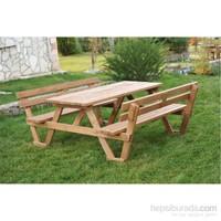Alaçam 8 Kişilik Sırt Dayamalı Piknik Masası