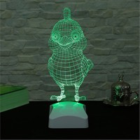 Dekorjinal 3 Boyutlu Sevimli Kuş Lamba V23d064