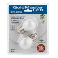 Goldmaster La-108-Bl2 3W Led Ampul E27 (Soğuk Beyaz) Küçük Gece Ampulü 2'Li Paket