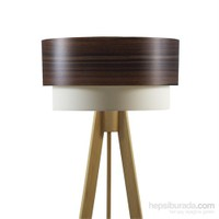Crea Lighting Doubleshade Naturel Tripod Lambader/Wood/Dragon Ceviz