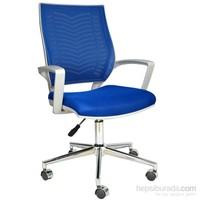 Bürocci Aletta Metal Ayaklı Çalışma Koltuğu Mavi 2102G0542