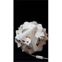 Puzzle Pyabj050 Beyaz/Sevimli Kedi Desenli Abajur