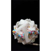 Puzzle Pyabj055 Beyaz/Renkli Balık Desenli Abajur
