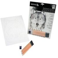 Reeves Dereceli Kalemler İle Gölgelendirme Çizim Seti Tilki