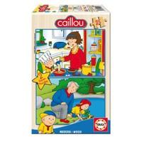 Educa Puzzle Caillou Puzzle (2x25 Parça,Ahşap)
