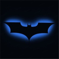 Dekorjinal Gölge Lamba Mavi Batman Sembolü Glmb017