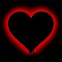 Dekorjinal Gölge Lamba Kalp Sembolü Glmb048
