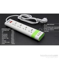 HomeCare Avec 3 USB Girişli Akım Korumalı Priz 091815