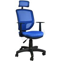 Bürocci Eva Fileli Başlıklı Koltuk-Mavi-2051R0542