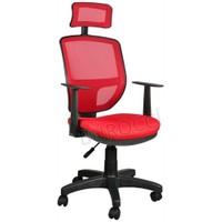 Bürocci Eva Fileli Başlıklı Koltuk-Kırmızı-2051R0545