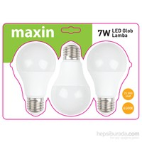 Pelsan Maxın7W E27 6400K Led Ampul (3' Lu Blıster Paket)
