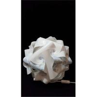 Puzzle Pyabj061 Beyaz/Gökyüzü Festivali Desenli Abajur