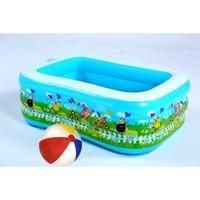 Cosfer Üç Katlı Desenli Şişme Aile Havuzu Mavi & 51 cm Dilim Desenli Deniz Topu HVZ-6598