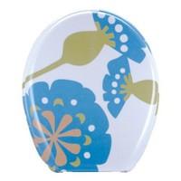Mavi Yapraklı Melamin Klozet Kapağı