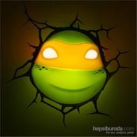 3D Lisanslı Ninja Kaplumbağalar Michelangelo Maske Gece Lambası