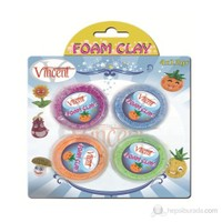 Vincent Foam Clay Proje Hamuru 4 Renk x 12 gr.